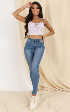 Easy To Say Top In Lilac