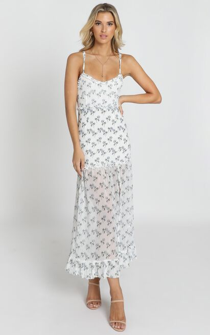 Like It Or Not dress in white floral - 20 (XXXXL), White, hi-res image number null