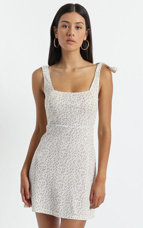Sadira Dress in White Floral