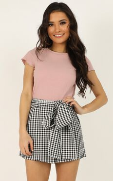 Meet Your Maker Skort In Black Check