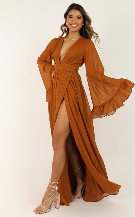 Dangerous Woman Dress In Rust