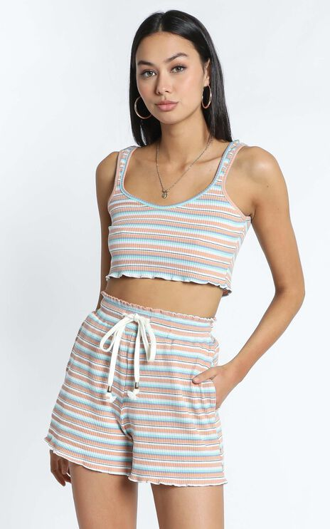 Zya The Label - Sadie Top in Pastel Stripe