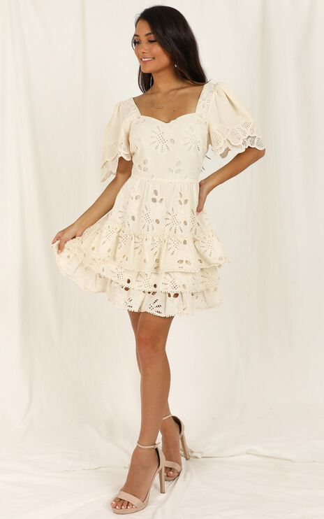 Back To The Island Dress In Cream Lace