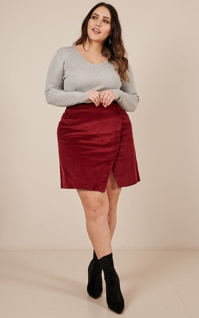 Over The Hill Skirt in wine - 12 (L), Wine, hi-res image number null