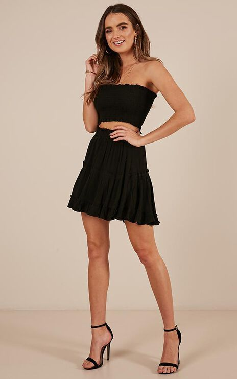 Outside The Line Two Piece Set In Black