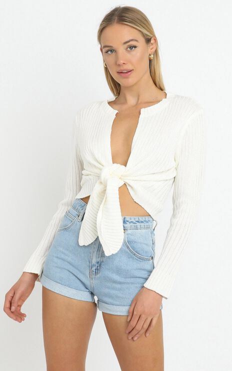 Leandra Knit Top in White