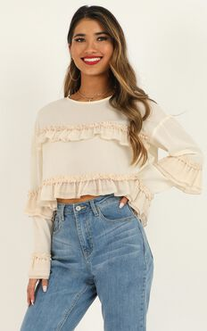 Last Minute Top In Cream Chiffon