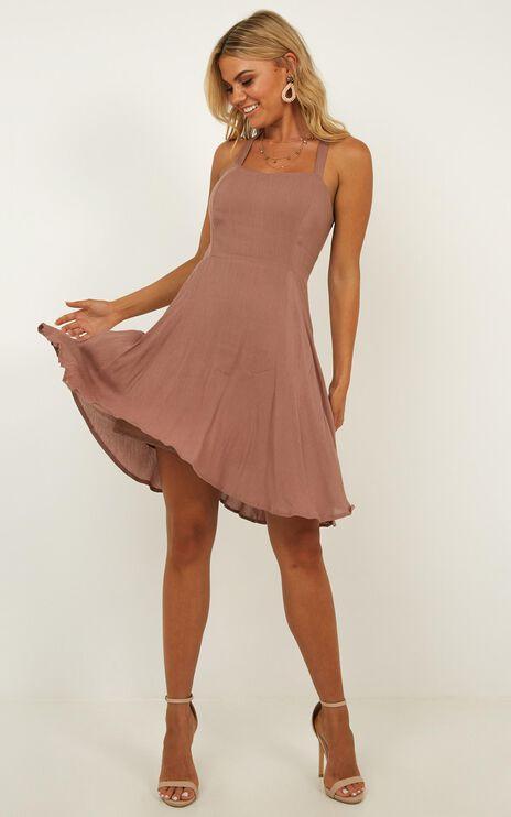 Soaring For You Dress In Mocha