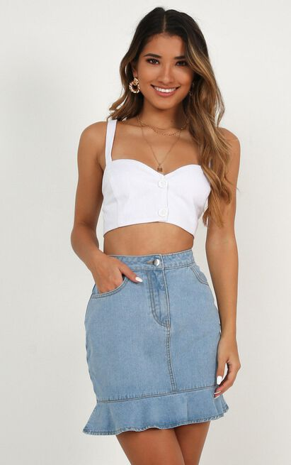 Too Much Pressure Top In white linen look - 20 (XXXXL), White, hi-res image number null