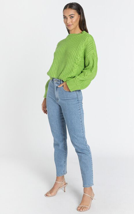 Game Of Love Knit Jumper in Green