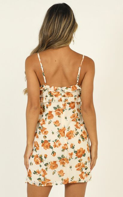 Lifes Not Simple dress in white floral - 20 (XXXXL), Cream, hi-res image number null