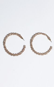 Aileen Hoop Earrings In Gold