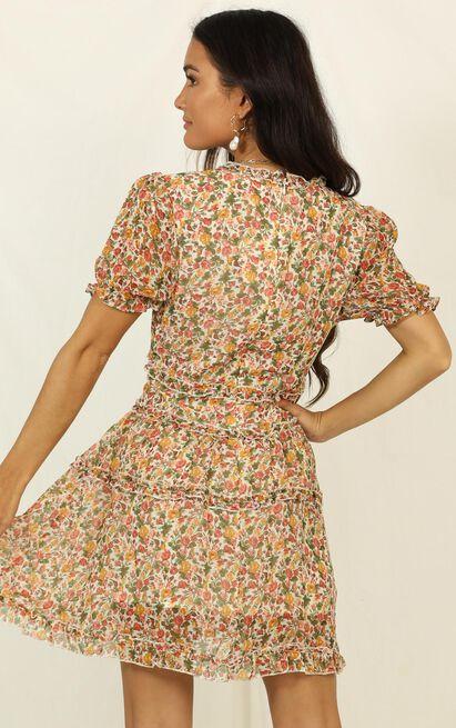 Losing My Marbles Dress In Floral Print - 16 (XXL), Orange, hi-res image number null