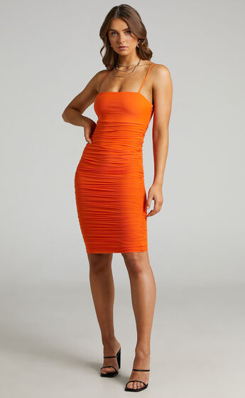 Coming For You Dress in Burnt Orange