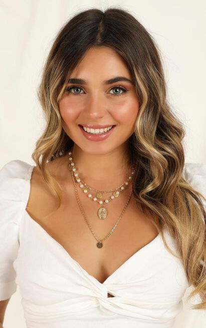 Keeping Secrets Necklace In Gold And Pearl, , hi-res image number null
