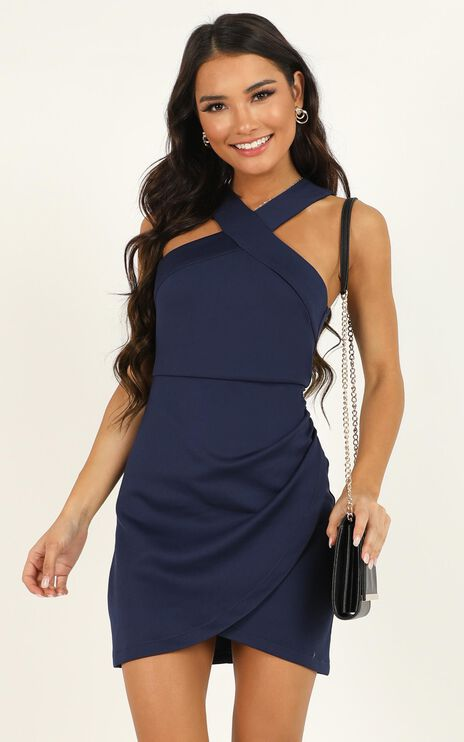 Beauty And A Beat Dress In Navy