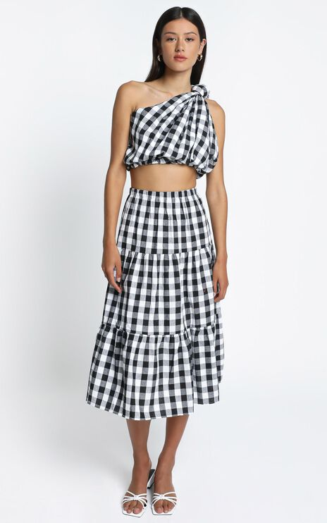 Thea Two Piece Set in Black Check