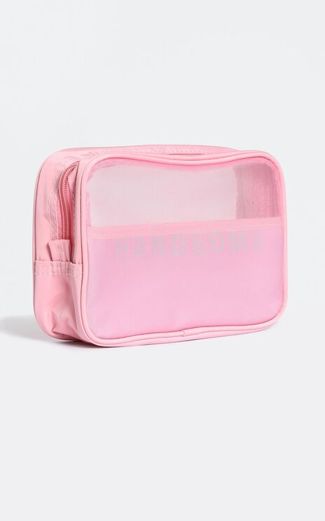 Fave Addition Travel Cosmetic Bag in Pink