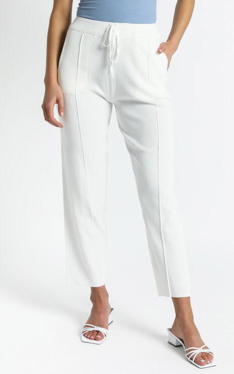 Bertie Knit Pants in White