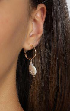 Minc Collections - Mini Ocean Hoop Earrings in Gold