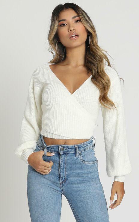 Sweetie Pie Knit Top In White
