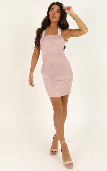 Let Me Love You Babe Dress in blush sequin - 12 (L), Blush, hi-res image number null