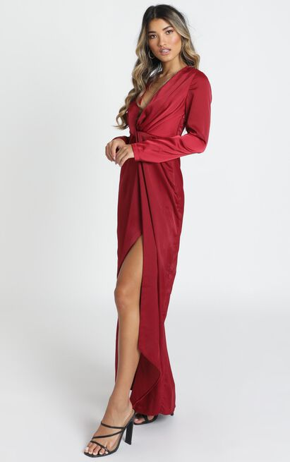 Can See It In Your Eyes Dress in wine - 20 (XXXXL), Wine, hi-res image number null