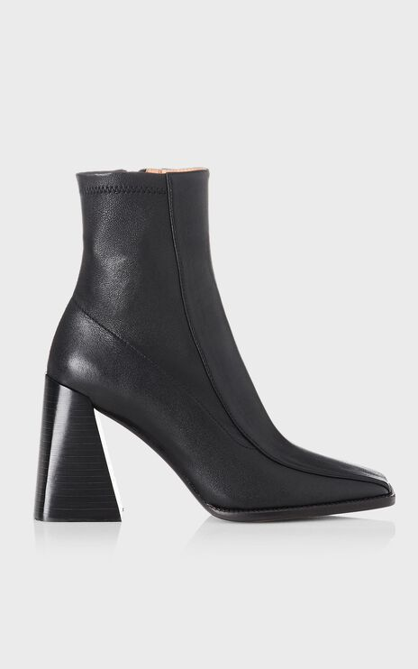 Alias Mae - Tide Boots in Black Stretch Leather
