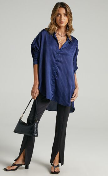 Lioness - Not Your Average Shirt in Midnight Pinstripe