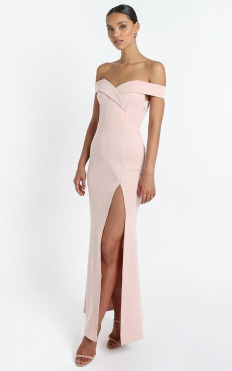 One For The Money Dress In Blush