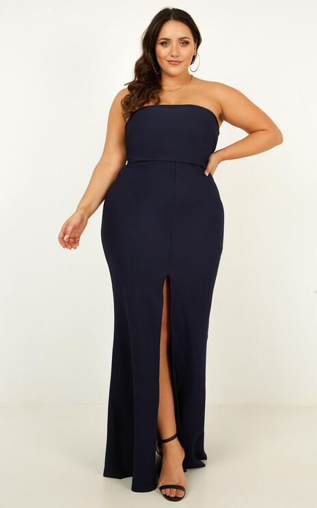 One More Kiss Maxi Dress In Navy