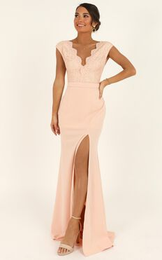 Let It Be Me Maxi Dress In Blush