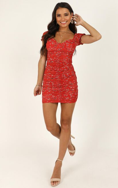 You're A Mystery Dress In Red Floral - 16 (XXL), Red, hi-res image number null