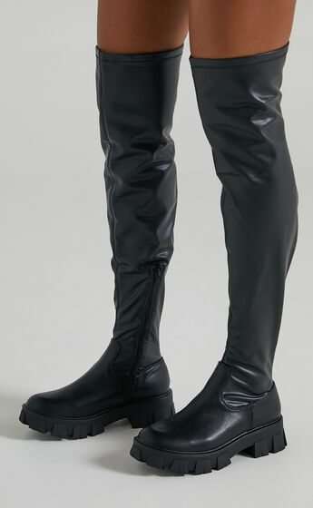 Therapy - Spice Boots in Black Matte