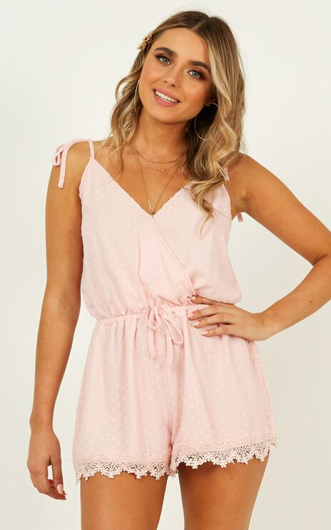 Tropo Dream Playsuit In Blush