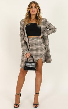 First Editions Skirt In Pink Check