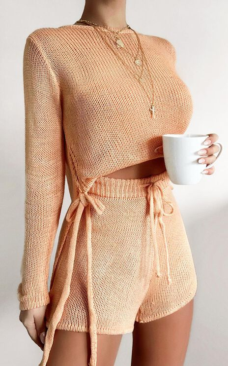 Ardal Two Piece Set in Peach