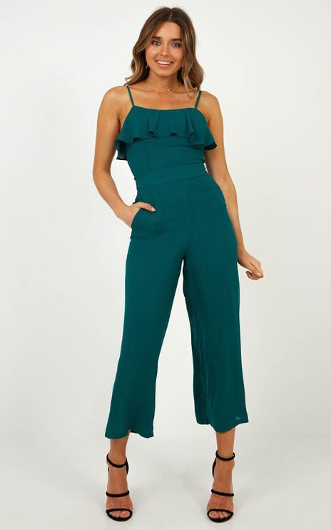 Greatest Love Jumpsuit In Emerald