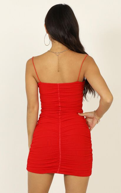 Nothing But Time dress in red - 16 (XXL), Red, hi-res image number null