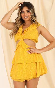 Way You Look Dress In Mustard Spot