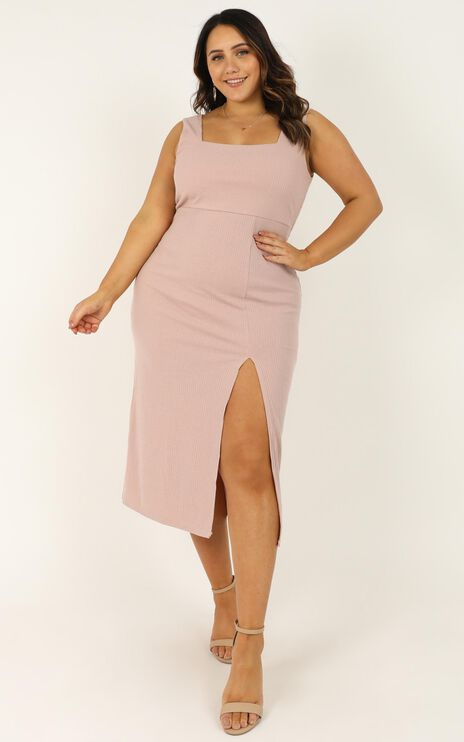 Sticking With My Strengths Dress In Blush
