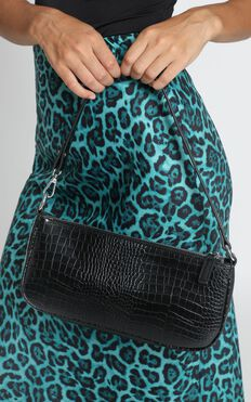 A New Type Bag In  Black Croc