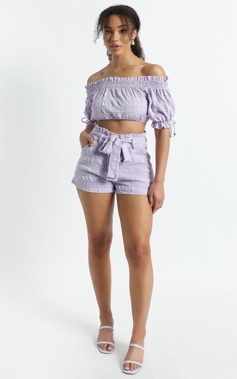 Emilienne Two Piece Set in Lilac Check
