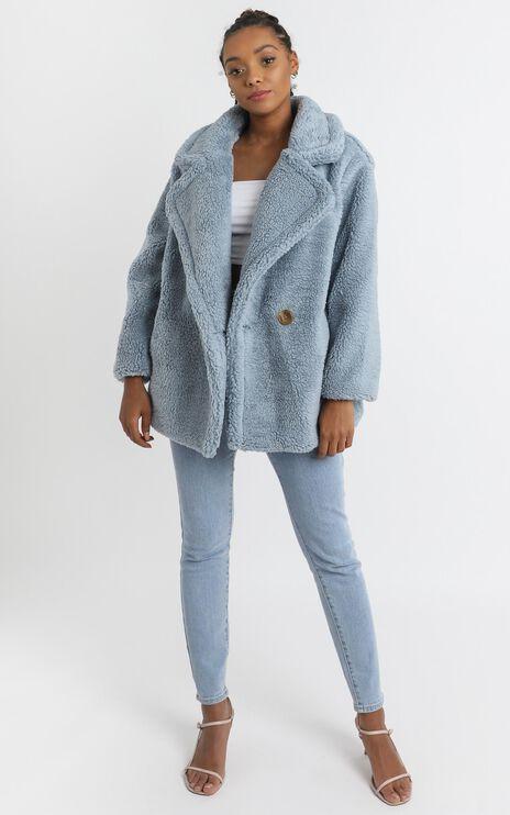 Aila Coat in Blue