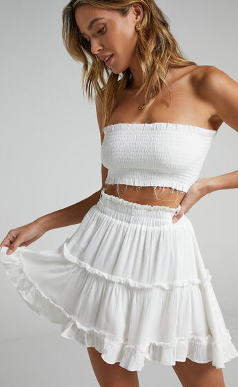 Outside The Line Two Piece Set In White
