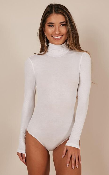 Toughen Up Bodysuit In White
