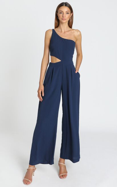 Beautiful Darkness Jumpsuit in navy - 14 (XL), Navy, hi-res image number null