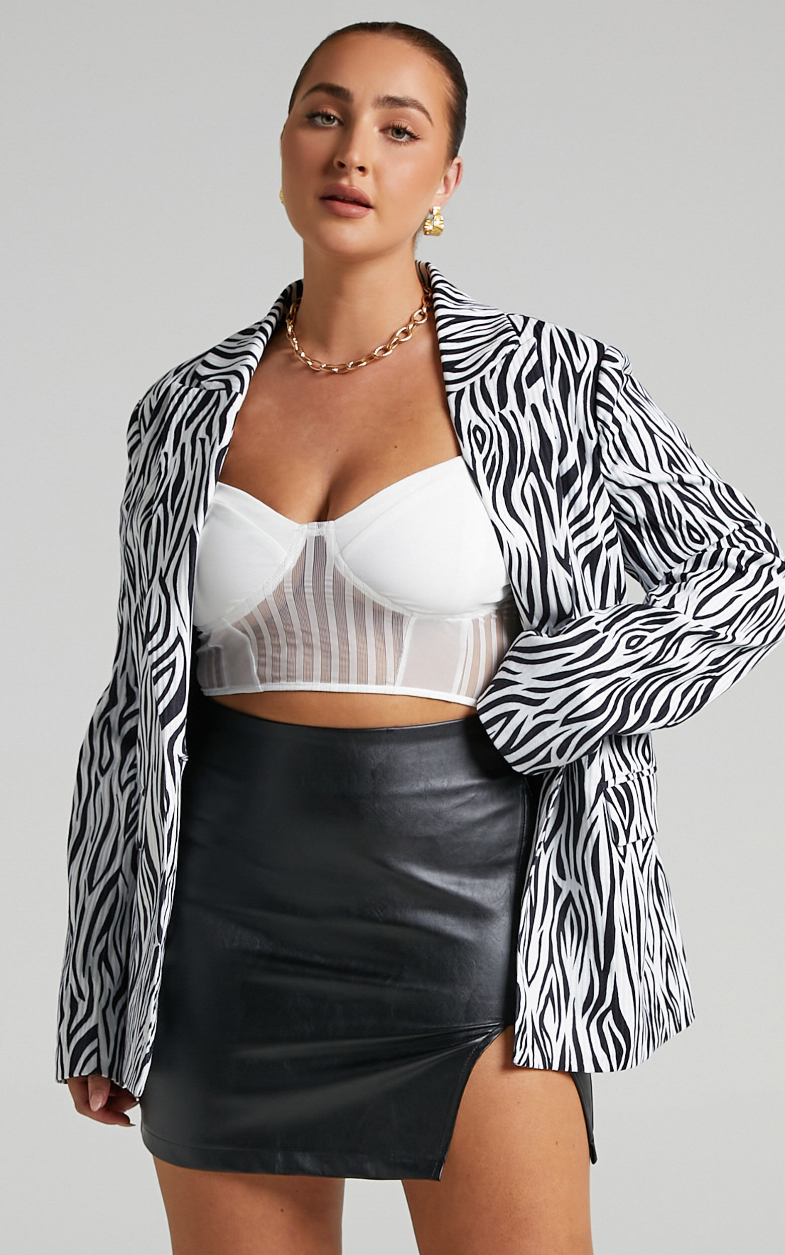 Robbia Blazer in Zebra Print - 04, MLT1, super-hi-res image number null