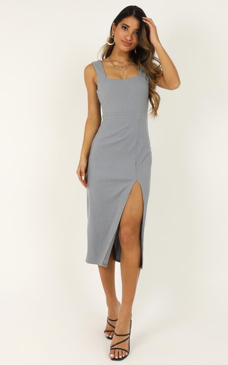 Sticking With My Strengths Dress In Blue