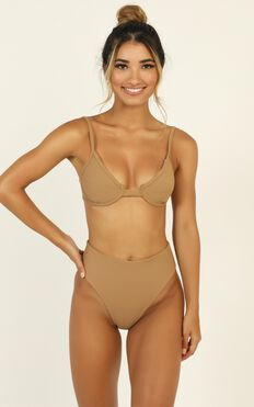 Zoe Bikini Set In Mocha